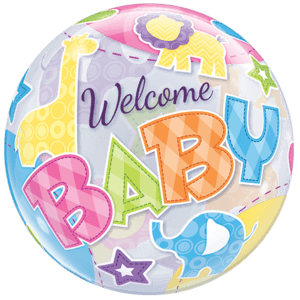 Animal Welcome Baby Bubble Balloon in a Box