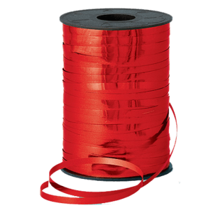 Metallic Red Curling Ribbon 250m Product Display