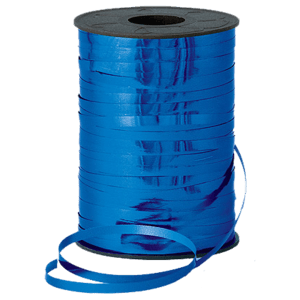 Metallic Blue Curling Ribbon 250m Product Display