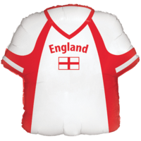 "22"" England Flag T Shirt Balloon in a Box"