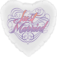 Just Married Heart Balloon in a Box