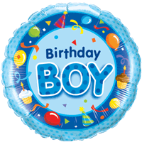Blue Birthday Boy Bash Balloon in a Box