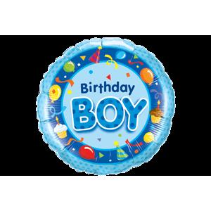 Blue Birthday Boy Bash Balloon in a Box