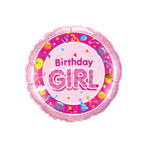 Pink Birthday Girl Party  Balloon in a Box