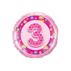 Fairy Pink 3rd Birthday  Balloon in a Box