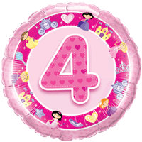 4th Birthday Princess Hearts  Balloon in a Box