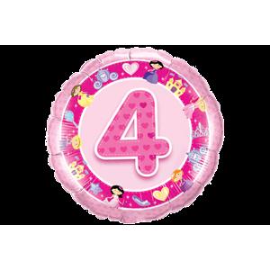 4th Birthday Princess Hearts  Balloon in a Box
