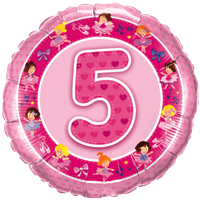 5th Birthday Dancing Princesses  Balloon in a Box