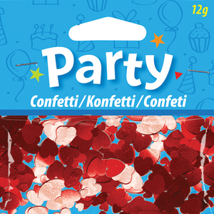 Confetti - Red Hearts Product Display
