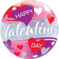 Happy Valentines Hearts Balloon in a Box