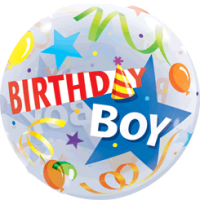 Birthday Boy Star Hat  Balloon in a Box