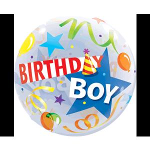 Birthday Boy Star Hat  Balloon in a Box