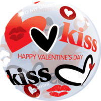 Kiss Kiss Valentines Balloon in a Box