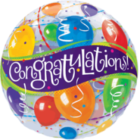 Congratulations Party Bubble Balloon in a Box