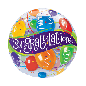 Congratulations! Balloon and Streamers Bubble