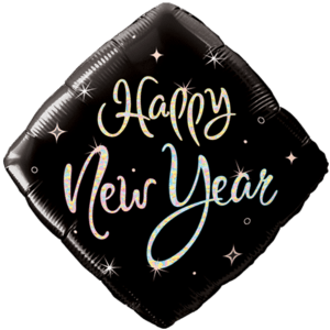 New Year Sparkle Diamond Balloon in a Box
