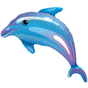 Vibrant Giant Dolphin Balloon in a Box