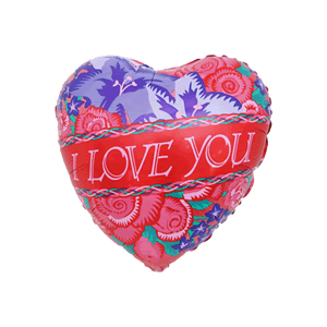 Love You Flower Bed Balloon in a Box