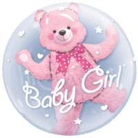 Baby Girl Bubble Balloon in a Box