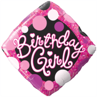 Birthday Girl Dots Balloon in a Box