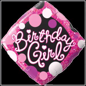 Birthday Girl Dots Balloon in a Box