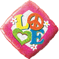 Love Peace Diamond Balloon in a Box