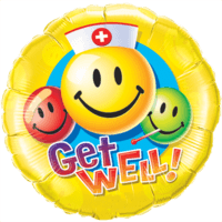 Get Well Smiley Balloon in a Box
