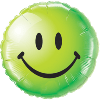 Cool Green Smiley Face Balloon in a Box