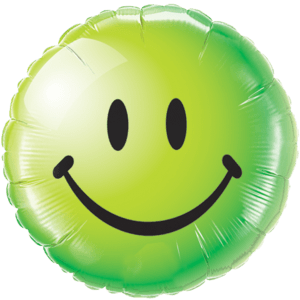 Keep Cool Green Smiley Face Balloon in a Box