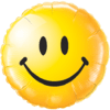 """18"""" Yellow Smiley Face Balloon overview"""