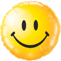 Bright Yellow Smiley Face Balloon in a Box