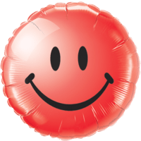 Radiant Red Smiley Face Balloon in a Box