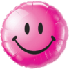 """18"""" Berry Smiley Face Balloon overview"""