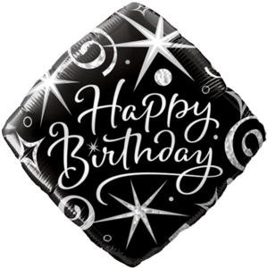 Birthday Black Diamond Balloon Balloon in a Box