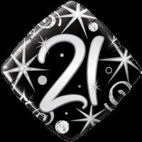 21st Diamond Dazzler Birthday Balloon in a Box
