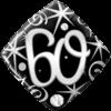 "18"" Elegant 60th Balloon overview"