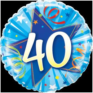 40 Blue Star Balloon in a Box