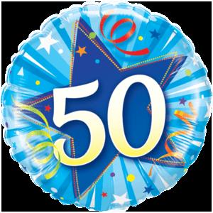 50 Blue Star Balloon in a Box