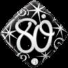 "18"" 80 Elegant Sparkles Balloon overview"