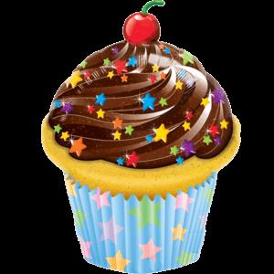 Cherry Sprinkles Giant Cupcake