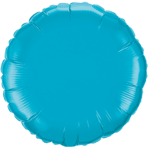 "18"" Turquoise foil Round Balloon Product Display"