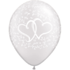 "11"" White Entwined Hearts x 25 overview"