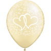 "11"" Entwined Hearts Pearl Ivory x 25 overview"