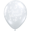 """11"""" Diamond Clear Just Married x 25 overview"""