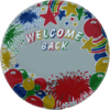 """18"""" Welcome Back Personalised Balloon overview"""