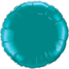 """18"""" Round Teal Foil Balloon overview"""