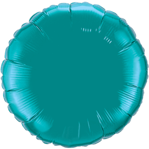 "18"" Teal foil Round Balloon Product Display"