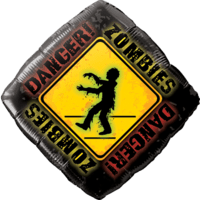 Danger! Zombies crossing Balloon in a Box