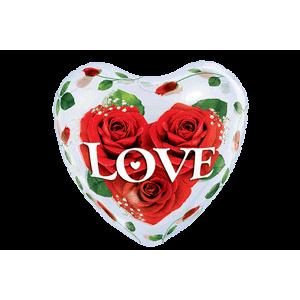 Heart Roses Love Bubble