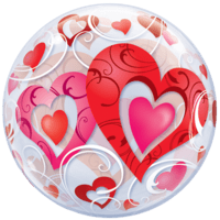 "22"" Big Heart Bubble Balloon in a Box"